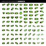 Jamaïca-vlag, vectorillustratie Stock Afbeeldingen