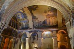 Jama kościół w Cappadocia obraz royalty free