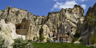Jama ko?ci?? w Cappadocia, Turcja fotografia stock