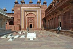 Jama Mashid at Fatehpur Sikri, the City of Victory Royalty Free Stock Photography