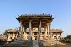Jama Masijd moské i komplexa Sarkhej Roza i Indien royaltyfria foton