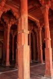 Jama Masjid内部在法泰赫普尔西克里,北方邦,印度 库存图片