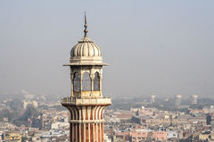 Jama Masjid清真寺在德里 库存照片