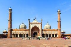 Jama Masjid清真寺,老德里, 库存图片
