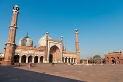 Jama Masjid清真寺,老Dehli,印度 免版税库存图片