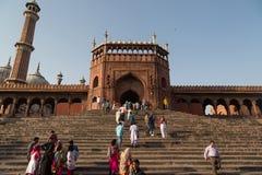 Jama Masjid,德里,印度 免版税库存照片