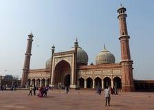 Jama Masjid,老德里 免版税库存图片