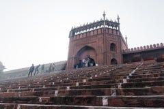 Jama Masjid главным образом мечеть старого Дели в Индии стоковая фотография rf