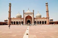 Jama Masjid av Delhi, Indien Royaltyfri Fotografi