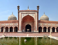 Jama Masjid - Close-upmening van de Grootste Moskee in India Stock Afbeelding