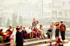 Jama masjid in Delhi stock foto's