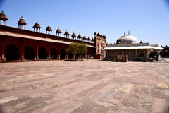 Jama Masjid, Delhi. Is one of the largest mosques in India. The rule was the construction of a mosque that could accommodate all the faithful during the Friday Stock Images
