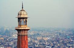 Jama masjid in Delhi stock afbeelding