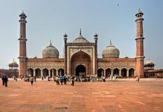 Jama Masjid, Delhi vieja, la India. Foto de archivo libre de regalías