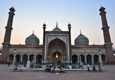 Jama Masjid at dusk in Delhi Royalty Free Stock Photo