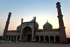 Jama Masjid at dusk in Delhi Royalty Free Stock Photos