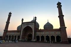 Jama Masjid at dusk in Delhi Royalty Free Stock Photos