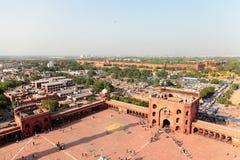 Jama Masjid e forte vermelho, Deli Fotos de Stock