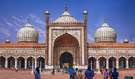 Jama Masjid Indien Arkivfoto