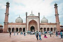 Jama Masjid, Indiens größte Moschee lizenzfreie stockbilder