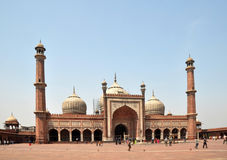 Jama Masjid - la plus grande mosquée en Inde Images libres de droits