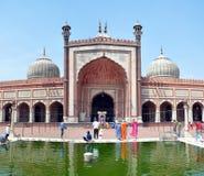 Jama Masjid - la plus grande mosquée en Inde Photos stock