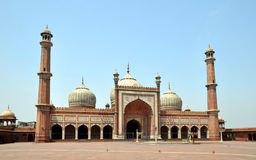 Jama Masjid - Largest Mosque in India Stock Photos