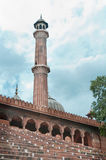 Jama Masjid minaret, India's largest mosque Stock Images