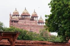 Jama Masjid moské i Fatehpur Sikri i Agra Arkivfoto