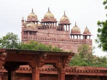 Jama Masjid moské i Fatehpur Sikri i Agra Royaltyfri Fotografi