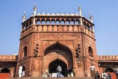Jama Masjid Mosque in Delhi Stock Photography