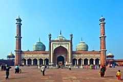 Jama Masjid Mosque, Delhi vieja, la India. Fotografía de archivo libre de regalías
