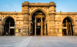 Jama Masjid & x28; mosque& x29; em Ahmedabad fotos de stock