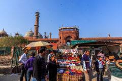 Jama Masjid mosque in the far Stock Images