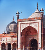 Jama Masjid mosque largest in India Royalty Free Stock Images
