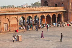 Jama Masjid Mosque, old Delhi, Royalty Free Stock Image