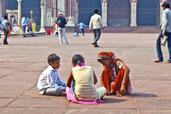 Jama Masjid Mosque, old Delhi, India. Royalty Free Stock Photo