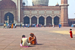 Jama Masjid Mosque, old Delhi, India. Stock Photography