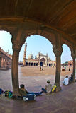 Jama Masjid Mosque, old Delhi, India. Royalty Free Stock Images