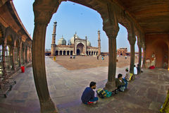 Jama Masjid Mosque, old Delhi, India. Royalty Free Stock Image
