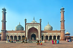 Jama Masjid Mosque, old Delhi, India. Stock Image