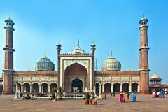 Jama Masjid Mosque, old Delhi, India. Stock Image