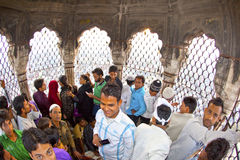 Jama Masjid Mosque, old Delhi, minaret Stock Photography