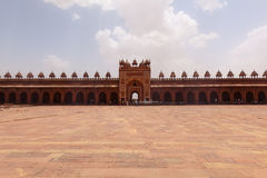 Jama Masjid mosque and Wall Fatehpur Sikri Royalty Free Stock Photography