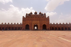 Jama Masjid mosque and - Wall Fatehpur Sikri Stock Photography
