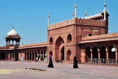 Jama Masjid, New Delhi, India. Muslim women Stock Photo