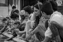 JAMA MASJID, OUD DELHI, INDIA - 24 JUNI 2017 Royalty-vrije Stock Afbeeldingen