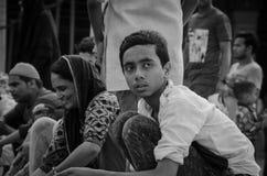 JAMA MASJID, OUD DELHI, INDIA - 24 JUNI 2017 Royalty-vrije Stock Foto