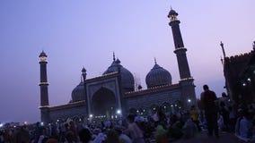 Jama masjid during roja stock video footage