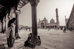 Jama Masjid, vecchia Delhi, India Fotografie Stock